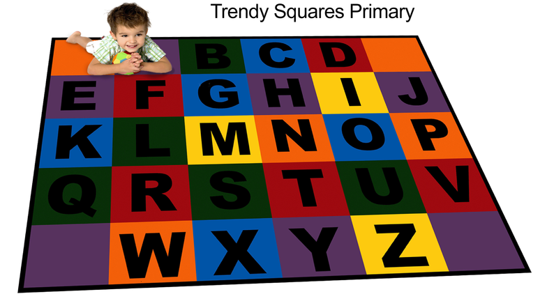 The Alphabet Just Got Better With Trendy Squares Primary. It Has Bright  Colors And Bold Letters That Made Learning Fun. Superior To All Other  Alphabet Rugs, ...